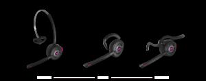 Headset wearing styles - earhook, neck band and headband